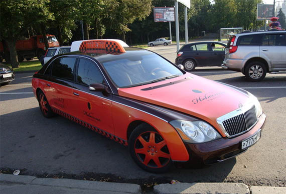Maybach-Taxi-Russia Cool and Unusual Taxis of the World
