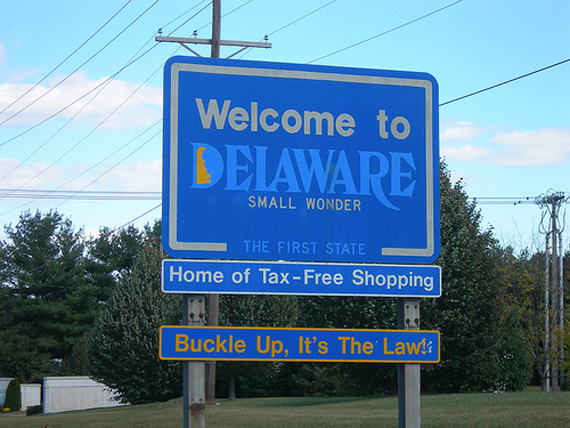 Delaware 50 Welcome Signs from 50 States