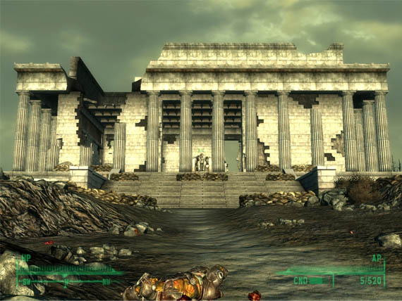 Fallout3-Lincoln-Memorial Real Locations Around the World Found in Video Games